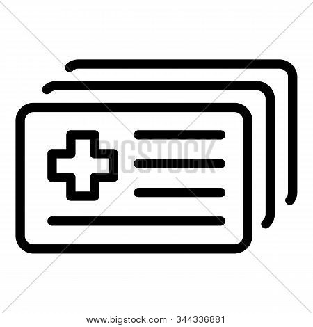 Medical Id Card Icon. Outline Medical Id Card Vector Icon For Web Design Isolated On White Backgroun