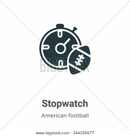 Stopwatch icon isolated on white background from american football collection. Stopwatch icon trendy