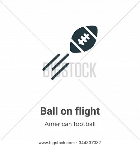 Ball on flight icon isolated on white background from american football collection. Ball on flight i