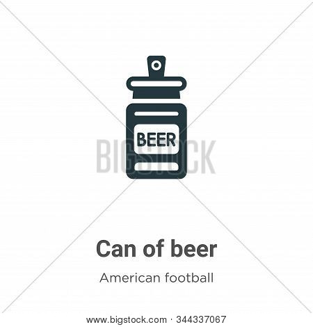 Can of beer icon isolated on white background from american football collection. Can of beer icon tr