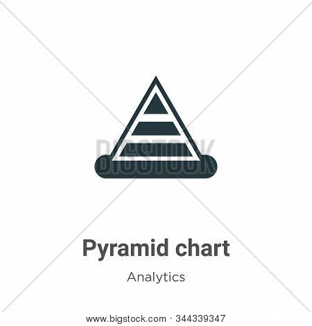Pyramid chart icon isolated on white background from analytics collection. Pyramid chart icon trendy