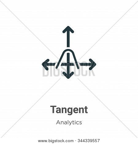 Tangent icon isolated on white background from analytics collection. Tangent icon trendy and modern