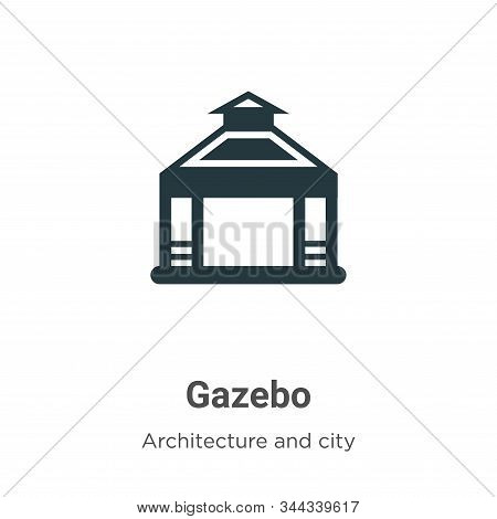 Gazebo icon isolated on white background from architecture and city collection. Gazebo icon trendy a