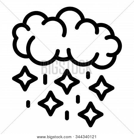 Blizzard Cloud Icon. Outline Blizzard Cloud Vector Icon For Web Design Isolated On White Background