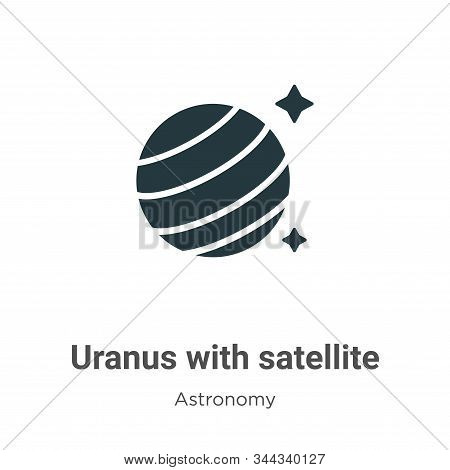 Uranus with satellite icon isolated on white background from astronomy collection. Uranus with satel