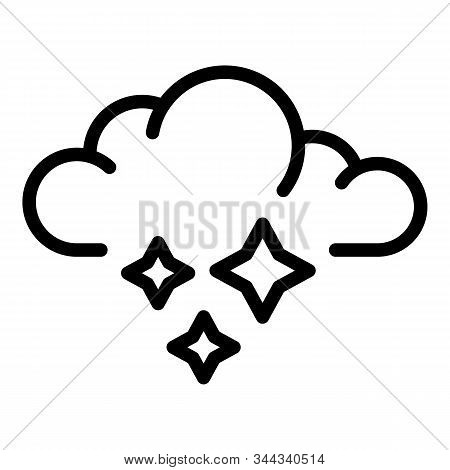 Ice Blizzard Cloud Icon. Outline Ice Blizzard Cloud Vector Icon For Web Design Isolated On White Bac