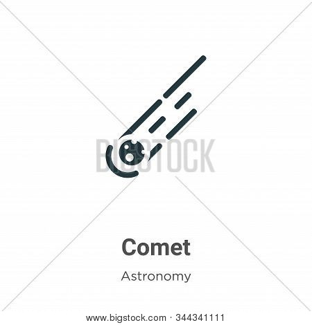 Comet icon isolated on white background from astronomy collection. Comet icon trendy and modern Come