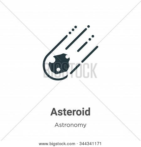 Asteroid Vector Icon On White Background. Flat Vector Asteroid Icon Symbol Sign From Modern Astronom