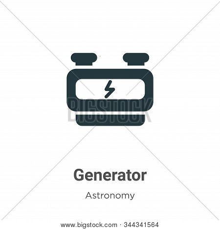 Generator icon isolated on white background from astronomy collection. Generator icon trendy and mod