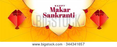Indian Style Makar Sankranti Festival Banner Design