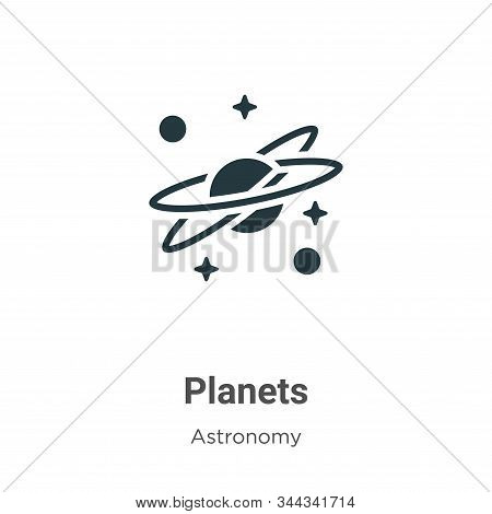 Planets icon isolated on white background from astronomy collection. Planets icon trendy and modern
