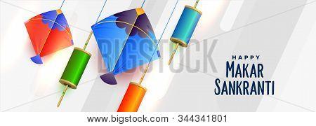 Kites And Spool Of String For Makar Sankranti Festival