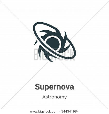 Supernova icon isolated on white background from astronomy collection. Supernova icon trendy and mod