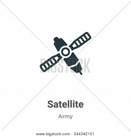 Satellite icon isolated on white background from army collection. Satellite icon trendy and modern S