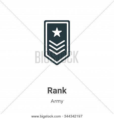 Rank icon isolated on white background from army collection. Rank icon trendy and modern Rank symbol