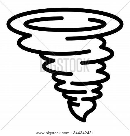 Catastrophe Tornado Icon. Outline Catastrophe Tornado Vector Icon For Web Design Isolated On White B