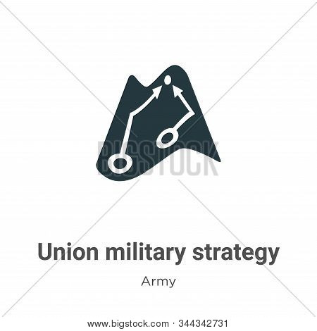 Union military strategy icon isolated on white background from army collection. Union military strat