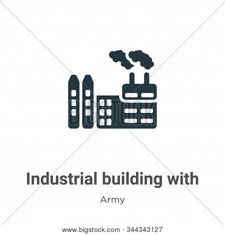 Industrial building with contaminants vector icon isolated on white background from modern army coll