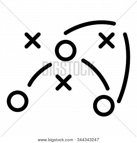 Team Soccer Tactic Icon. Outline Team Soccer Tactic Vector Icon For Web Design Isolated On White Bac