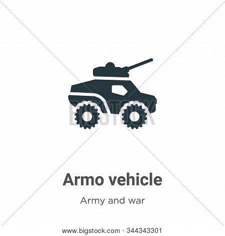 Armored Vehicle Vector Icon On White Background. Flat Vector Armored Vehicle Icon Symbol Sign From M