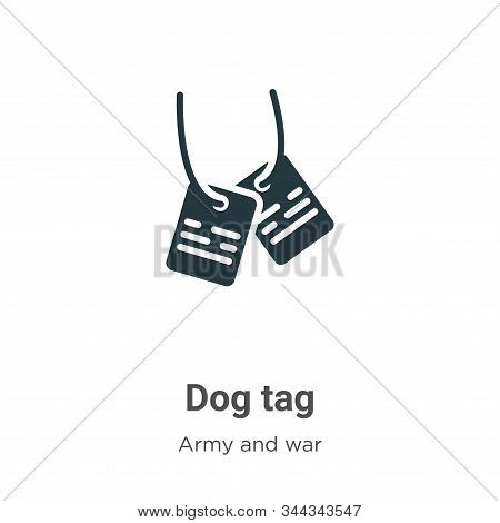 Dog tag icon isolated on white background from army and war collection. Dog tag icon trendy and mode