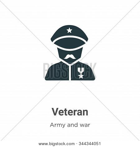 Veteran icon isolated on white background from army and war collection. Veteran icon trendy and mode