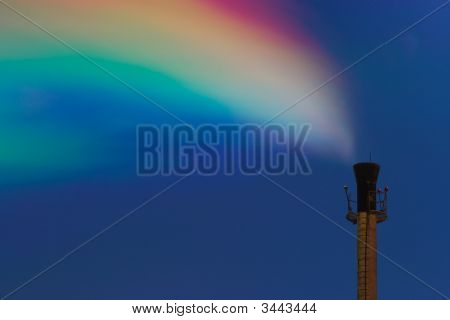 Chimney With Colored Smoke