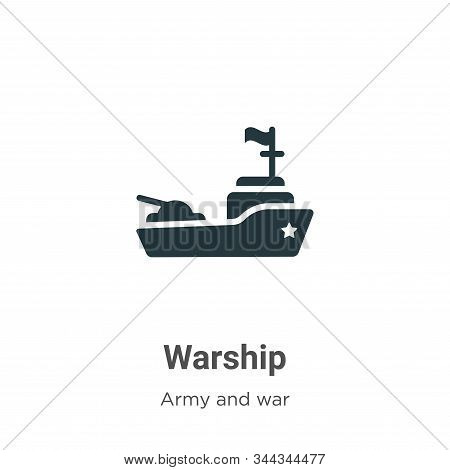 Warship icon isolated on white background from army and war collection. Warship icon trendy and mode