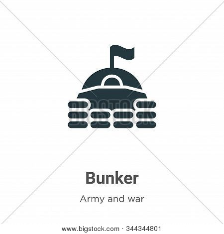 Bunker icon isolated on white background from army collection. Bunker icon trendy and modern Bunker