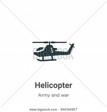 Helicopter Vector Icon On White Background. Flat Vector Helicopter Icon Symbol Sign From Modern Army