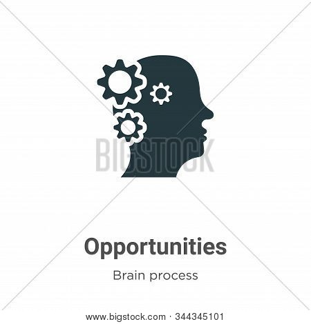 Opportunities Vector Icon On White Background. Flat Vector Opportunities Icon Symbol Sign From Moder