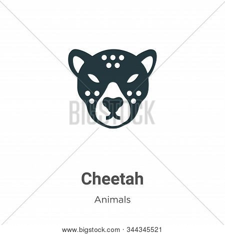 Cheetah icon isolated on white background from animals collection. Cheetah icon trendy and modern Ch