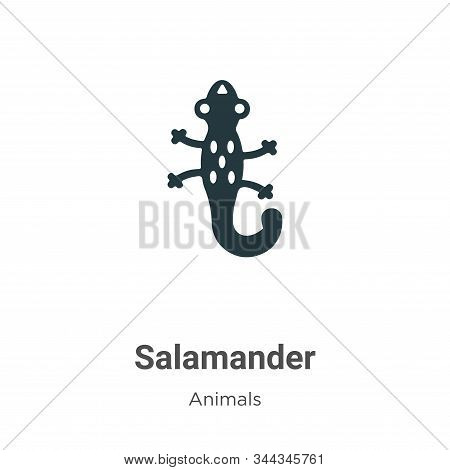 Salamander icon isolated on white background from animals collection. Salamander icon trendy and mod