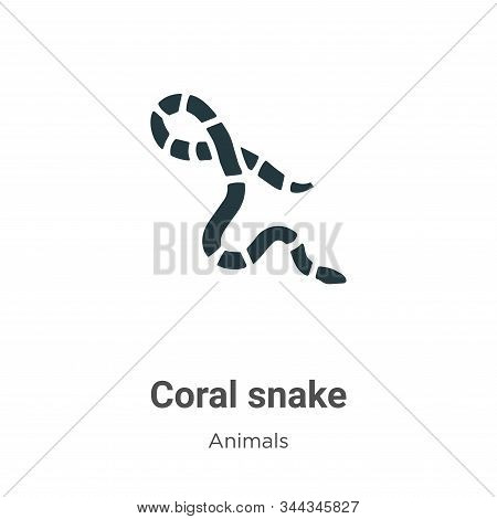 Coral snake icon isolated on white background from animals collection. Coral snake icon trendy and m