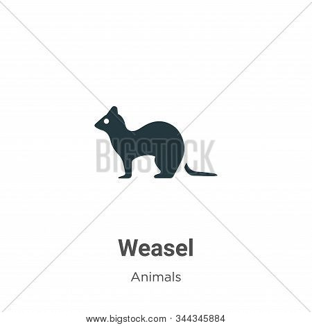 Weasel icon isolated on white background from animals collection. Weasel icon trendy and modern Weas