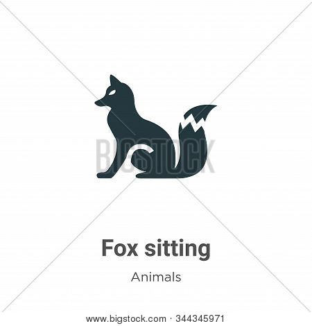 Fox sitting icon isolated on white background from animals collection. Fox sitting icon trendy and m