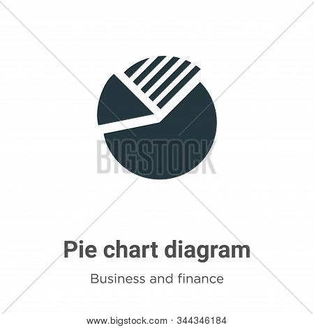 Pie chart diagram icon isolated on white background from business and finance collection. Pie chart