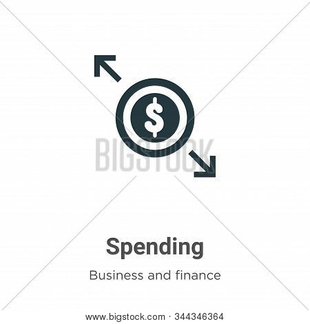 Spending icon isolated on white background from business and finance collection. Spending icon trend