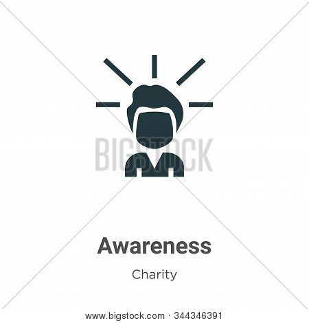 Awareness icon isolated on white background from charity collection. Awareness icon trendy and moder