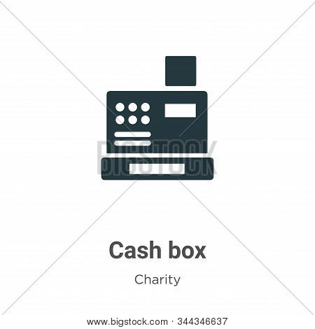 Cash box icon isolated on white background from charity collection. Cash box icon trendy and modern