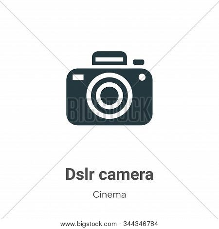 Dslr camera icon isolated on white background from cinema collection. Dslr camera icon trendy and mo