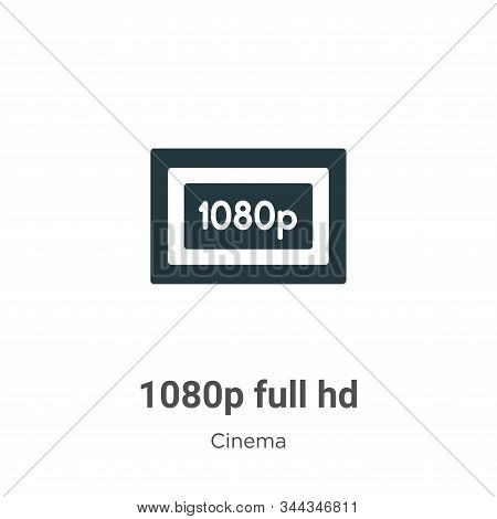 1080p Full Hd Vector Icon On White Background. Flat Vector 1080p Full Hd Icon Symbol Sign From Moder