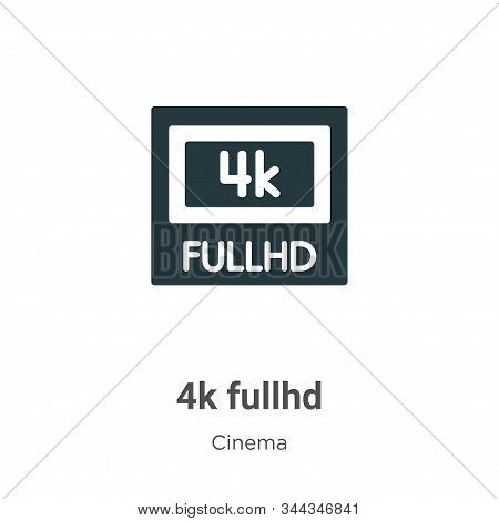 4k fullhd icon isolated on white background from cinema collection. 4k fullhd icon trendy and modern