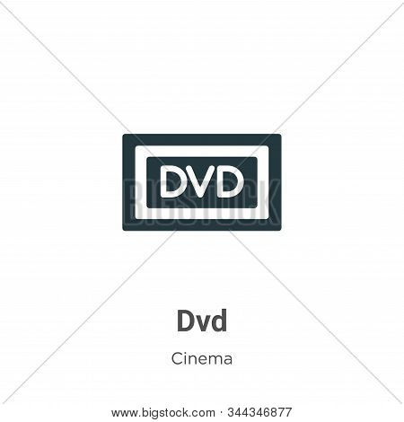Dvd Logo Vector Icon On White Background. Flat Vector Dvd Logo Icon Symbol Sign From Modern Cinema C