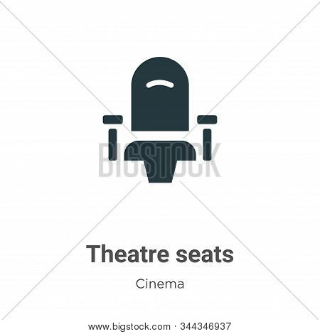 Theatre Seats Vector Icon On White Background. Flat Vector Theatre Seats Icon Symbol Sign From Moder
