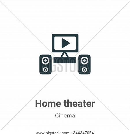 Home theater icon isolated on white background from cinema collection. Home theater icon trendy and