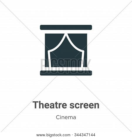 Theatre screen icon isolated on white background from cinema collection. Theatre screen icon trendy