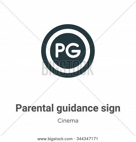 Parental Guidance Sign Vector Icon On White Background. Flat Vector Parental Guidance Sign Icon Symb