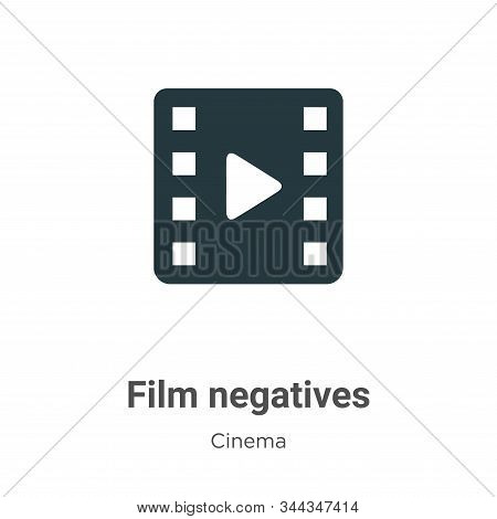 Film Negatives Vector Icon On White Background. Flat Vector Film Negatives Icon Symbol Sign From Mod