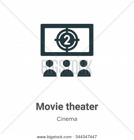 Movie theater icon isolated on white background from cinema collection. Movie theater icon trendy an
